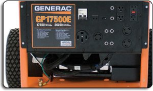 Generac GP17500E power panel